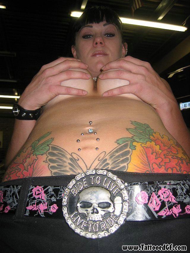 Homemade nude tattoo for